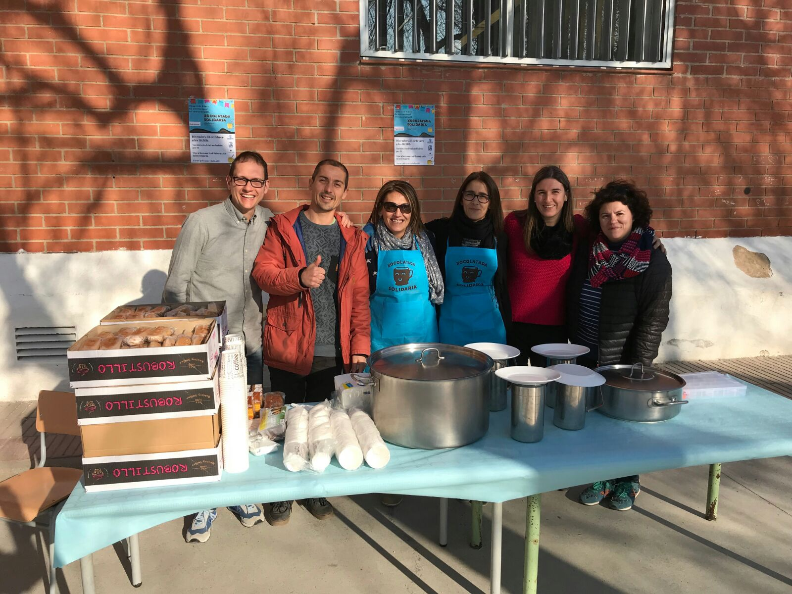 Escola Cesar August Tarragona Xocolatada Solidaria